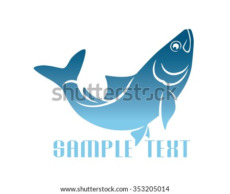 The figure shows herring logo - stock vector