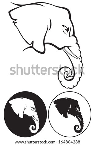 the figure shows the animal elephant - stock vector