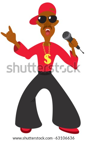 The figure shows the singer - stock vector