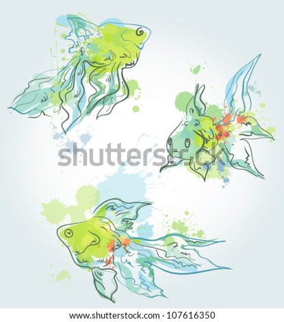 The fishes - stock vector