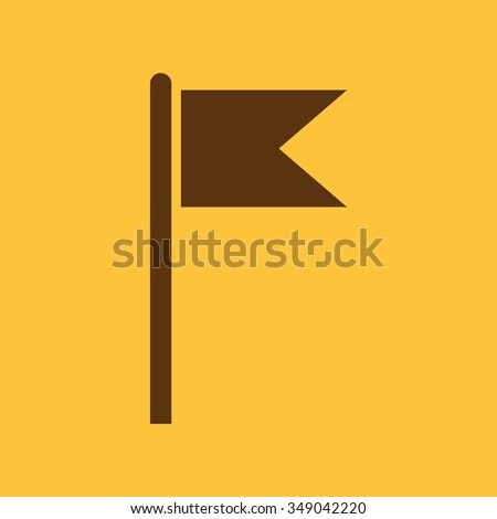 The flag icon. Mark and navigation symbol. Flat Vector illustration