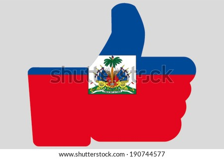 The flag of Haiti in a Thumbs Up Icon