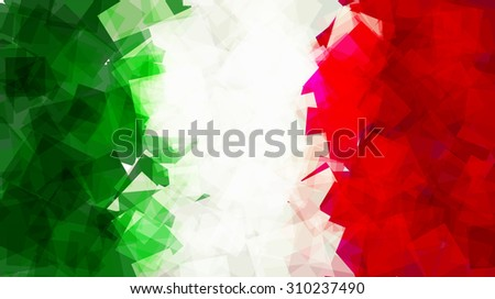 The flag of Italy in Vector Square Design - stock vector