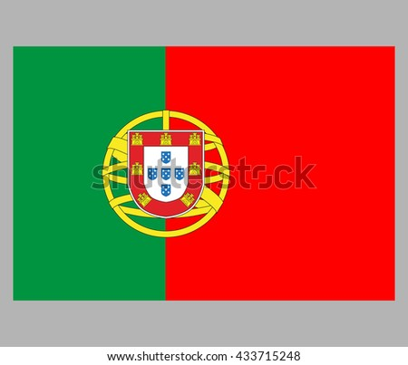 The flag of Portugal - stock vector
