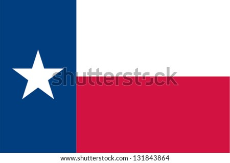 The flag of the United States of America State Texas - stock vector