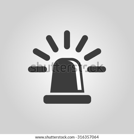 The flasher icon. Police and  ambulance, alarm, beacon symbol. Flat Vector illustration - stock vector
