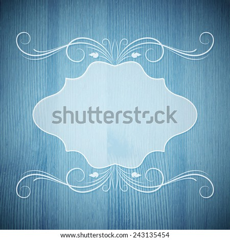 The frame in  retro stile. Vector illustration - stock vector
