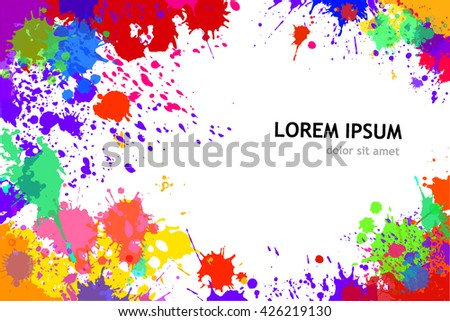The frame of the ink spots. Vector - stock vector