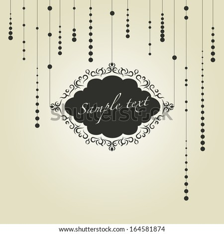 The frame template. Vector illustration. - stock vector