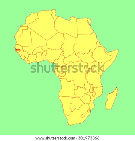 Gambia vector map isolated on africa stock vector 2018 301973366 the gambia vector map isolated on africa map editable vector map of africa gumiabroncs Gallery