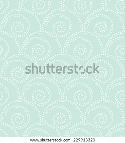 The geometric pattern by dots and circles. Seamless vector background. Blue and white texture. - stock vector