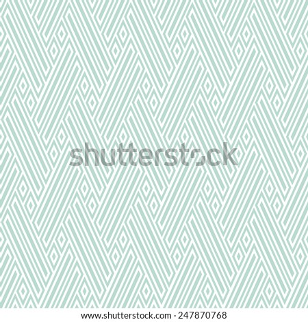 The geometric pattern by stripes, lines, diamonds. Seamless vector background. Light texture. - stock vector