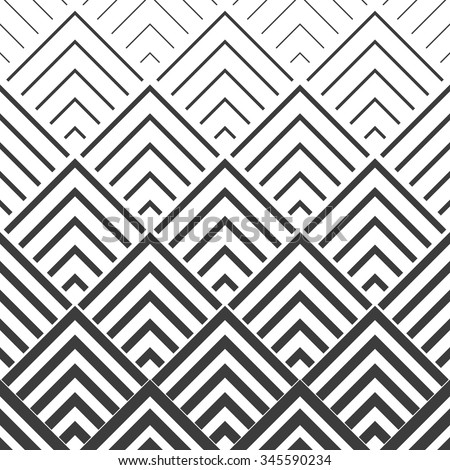 The geometric pattern by stripes . Seamless vector background. Black and white texture - stock vector