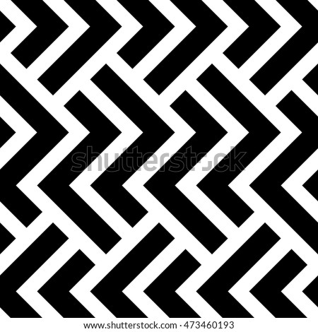 The Geometric Pattern By Stripes Seamless Vector Background Black And White Texture Graphic
