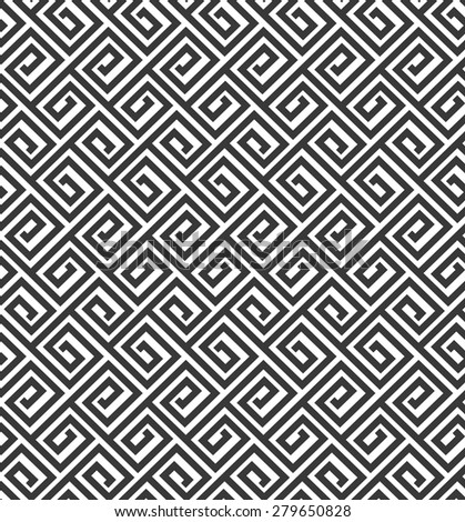 The geometric pattern by stripes . Seamless vector background. Black texture.