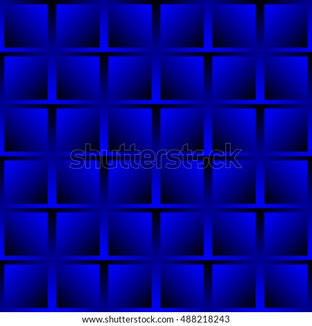 The geometric pattern of squares