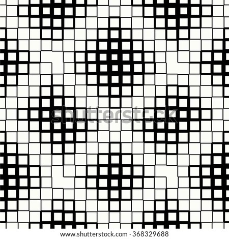 The geometric pattern of squares, futuristic, mesh, seamless vector background. - stock vector