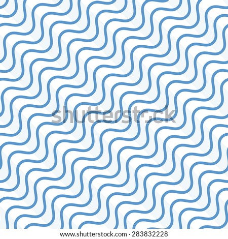 The geometric pattern of the lines, stripes. Seamless vector background. Blue and white texture.