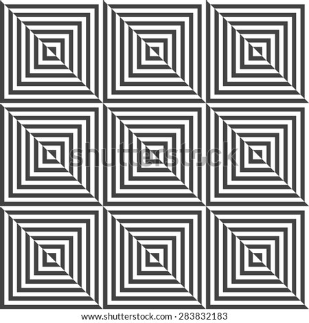 The geometric pattern with lines, stripes. Seamless vector background. Dark texture