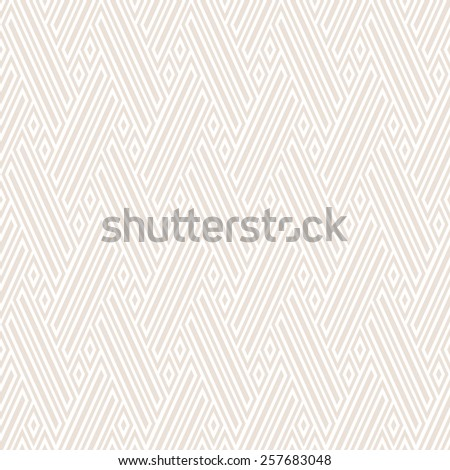 The geometric pattern with stripes, lines, diamonds. Seamless vector background. Light texture - stock vector