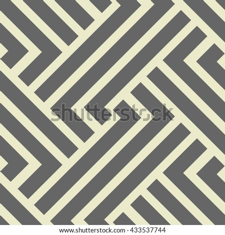 The geometric pattern with stripes. Seamless vector background.Gray  texture. - stock vector