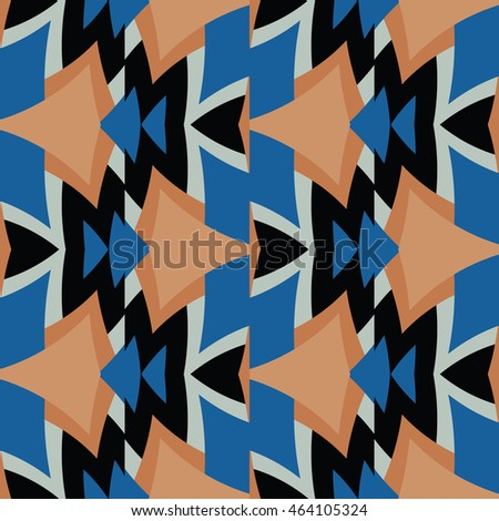 The geometric texture. Boho fashion. Color geometric ornaments. Vector illustration.