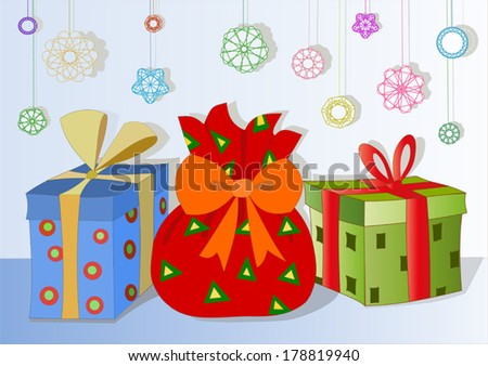 the gifts - stock vector