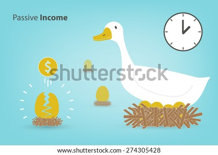 the goose with the golden eggs (Investment concept in eps10 format) - stock vector