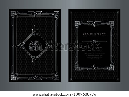 Great gatsby vector art deco style stock vector 2018 1009688776 the great gatsby vector art deco style silver vintage frame abstract geometric patterned stopboris Image collections