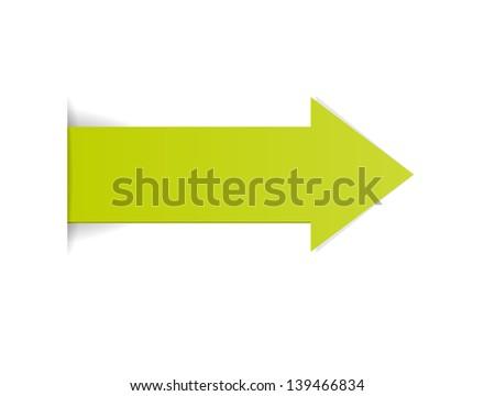The green arrow with hidden edge effect / The green arrow - stock vector