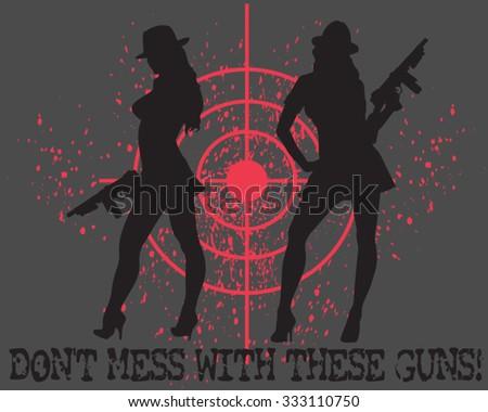 the guns - stock vector