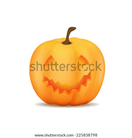The Halloween pumpkin. The character and the element for design for invitation card, poster and parties. - stock vector