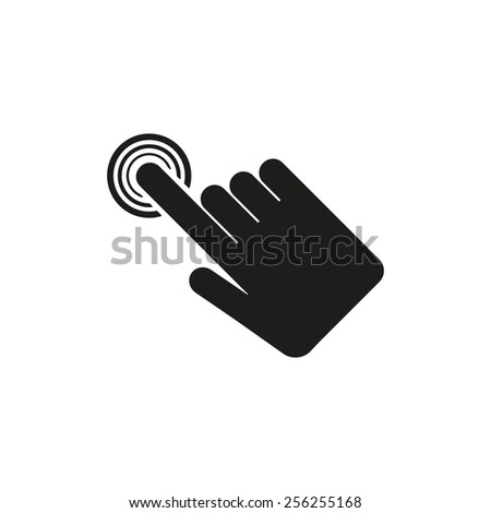 The hand click icon. Cursor symbol. Flat Vector illustration - stock vector