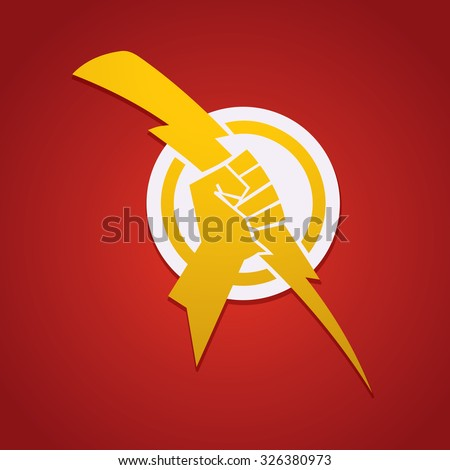 Hand Zeus Holding Thunderbolt Stockvector 326380973 Shutterstock