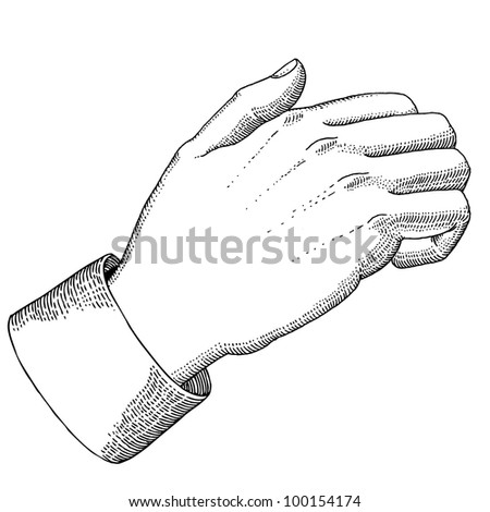 The hand with knocking gesture - stock vector