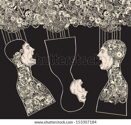 The Hanged Man Social Link. - stock vector