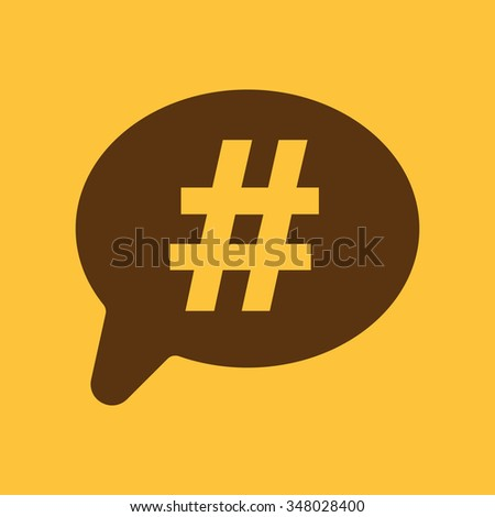 The hashtag icon. Social network and web communicate symbol. Flat Vector illustration - stock vector