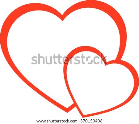 heart icon red heart two hearts stock vector 370150406 shutterstock rh shutterstock com hearts vector png heart vector all free download