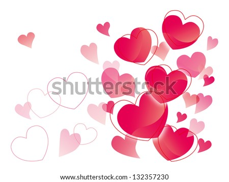 The heart is loved - stock vector
