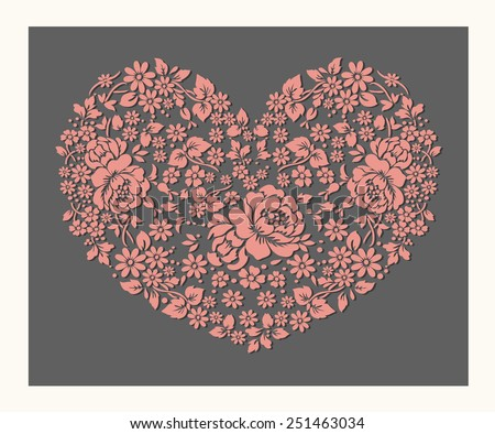 The heart of the Rose ,vector design - stock vector