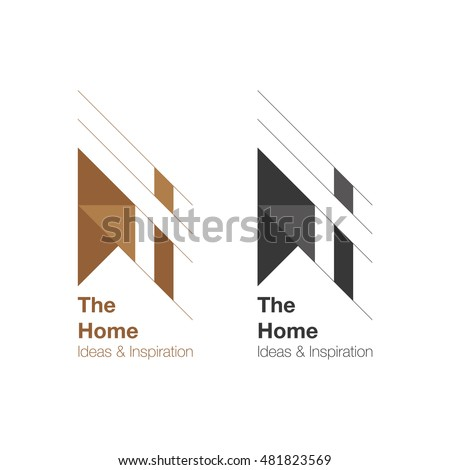 the home and interior logo design vector logo template home ideas and inspiration - Interior Design Logo Ideas