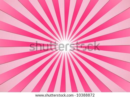 The hot summer sun - pink background (vector, illustration) - stock vector