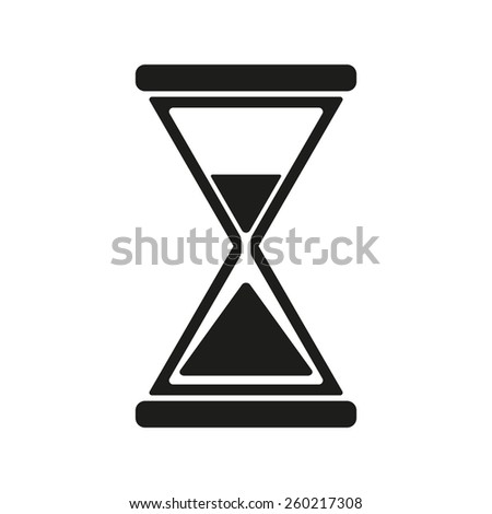 The hourglass icon. Clock symbol. Flat Vector illustration - stock vector