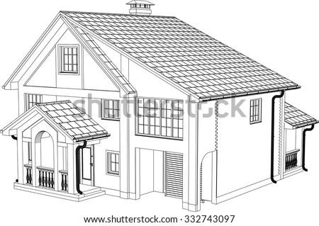 House Drawing Stock Images Royalty Free Images Vectors