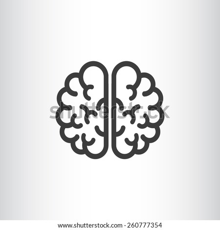 the human brain, web icon. vector design - stock vector