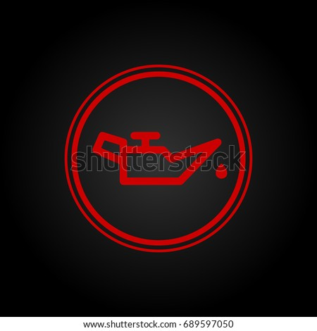 Icon Indicates Low Oil Pressure Stock Vector 689597050 Shutterstock