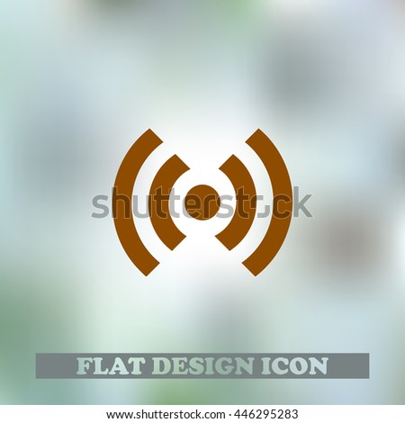 The icon of rss. Flat design style