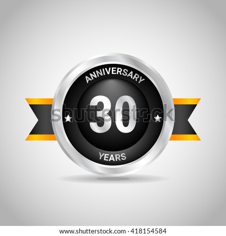 The icon on the thirty-year anniversary. Vector illustration - stock vector