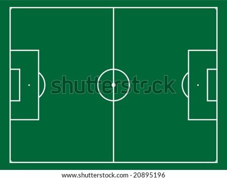 The illustration of a football field - stock vector
