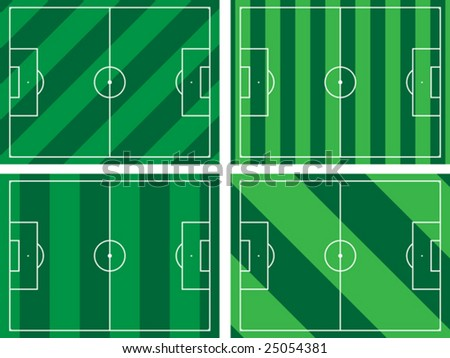 The illustration of a football field. - stock vector
